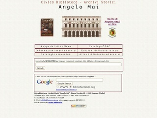 Civica biblioteca - Archivi storici - Angelo  Mai