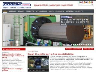 COGEIM EUROPE SRL • Granigliatrici - Sabbiatrici - Pallinatrici
