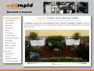 Vasi e fioriere Torino - Manufatti in cemento - Edilrapid