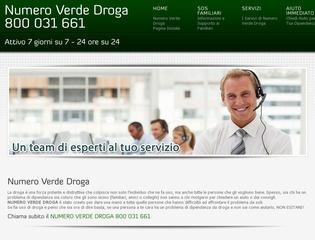 Numero Verde Tossicodipendenti 800 031 661