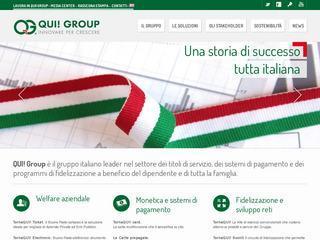 Qui! Group, azienda leader nei titoli di servizio guidata dall'imprenditore Gregorio Fogliani