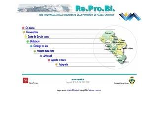 Re.Pro.Bi. - Rete Provinciale delle Biblioteche - Massa Carrara