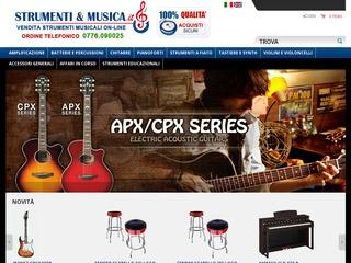 Vendita online di strumenti musicali