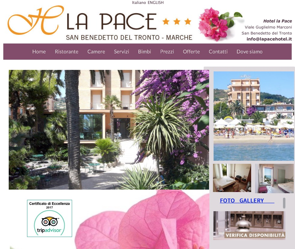 Hotel La Pace 3 stelle