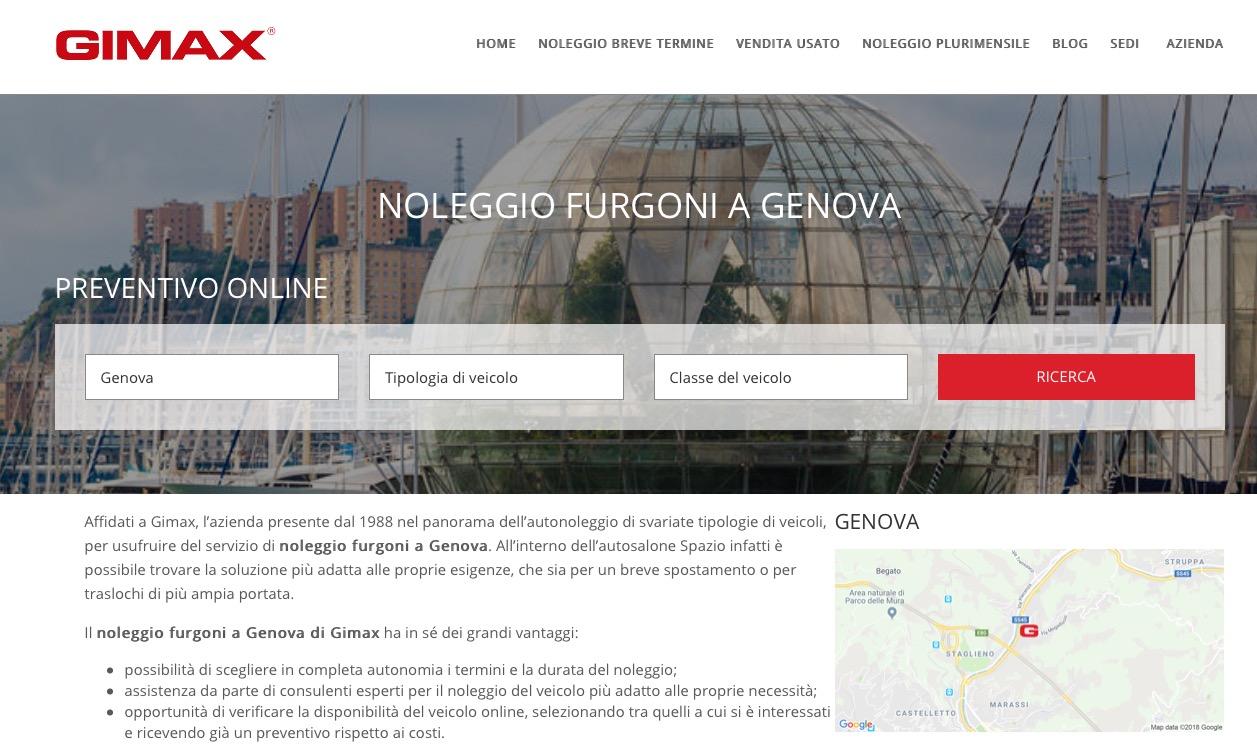 Gimax - Noleggio Furgoni Genova